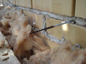 Korrodert trådbinder helt avspist i hulrom